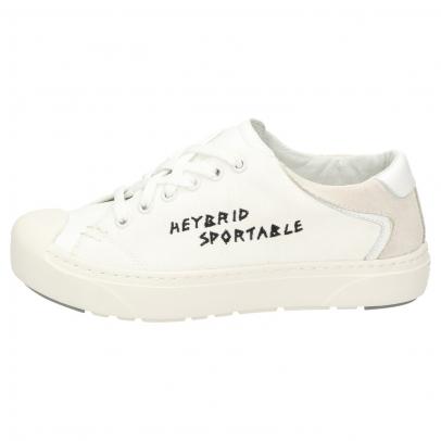 Heybrid Sneaker m. Stickerei natur