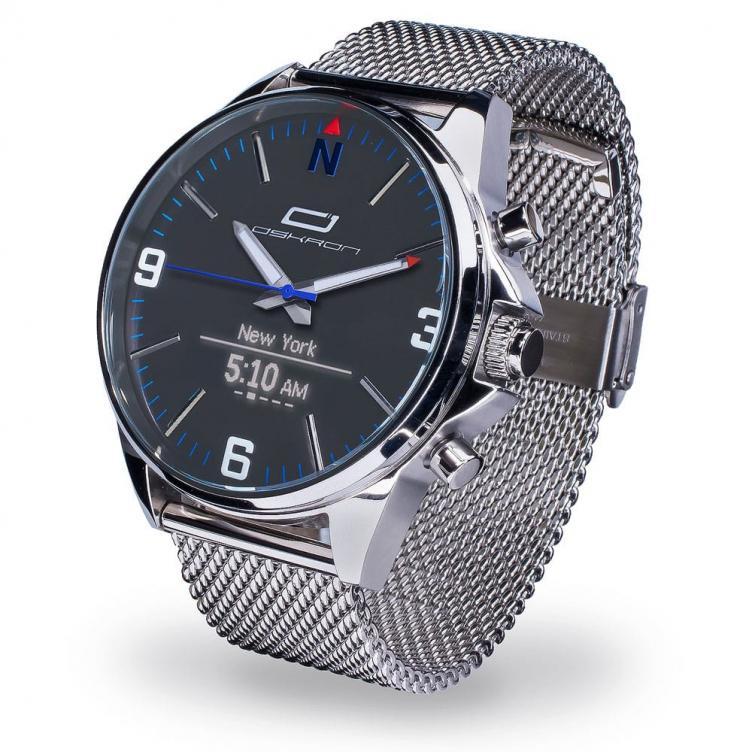 Oskron Gear Smartwatch  M017 - feingliedrig metallic